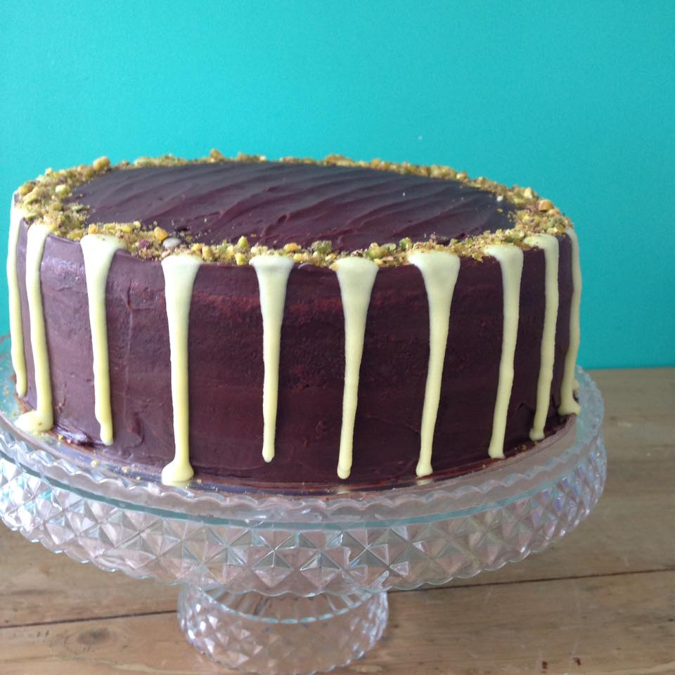 Chocolate and Pistachio Party Cake