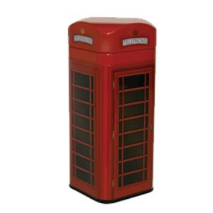 telephone box shortbread tin