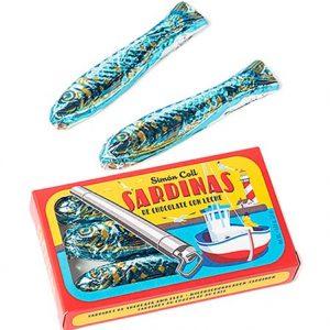 Tin of choc sardines