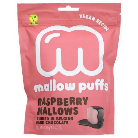 raspberry vegan mallow puffs