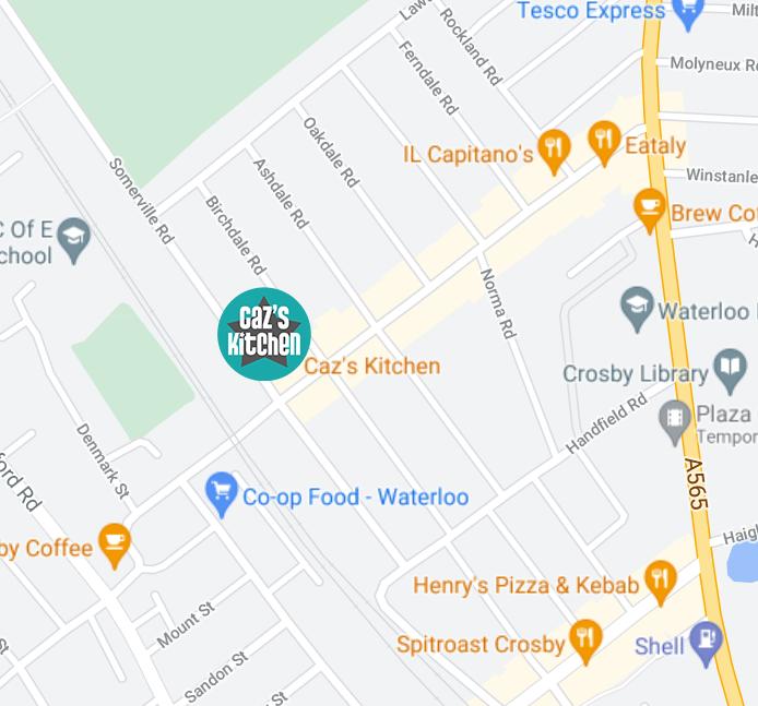 cazs kitchen saint johns road map