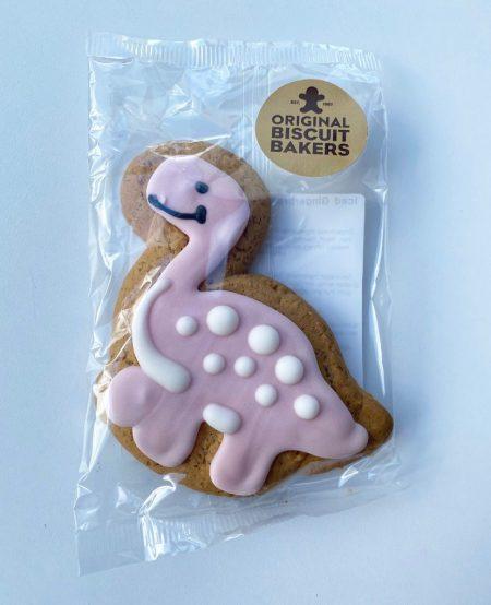 pink gingerbread dinosuar