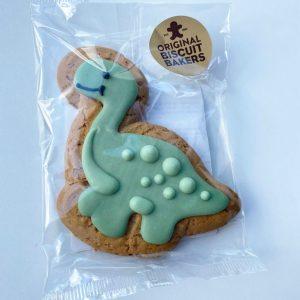 green gingerbread dinosaur